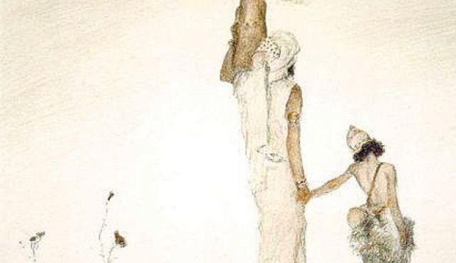 """""""Hagar and Ishmael"""" by Abel Pann (1950)"""