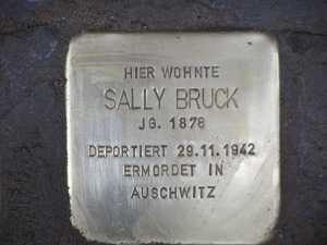 stumbling stone for Sally