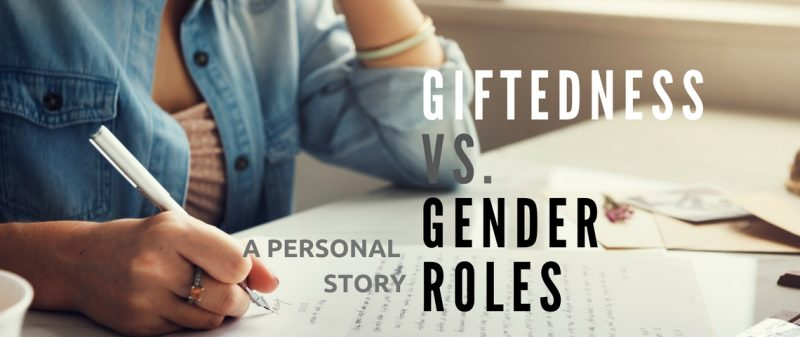 Woman writing about gender roles